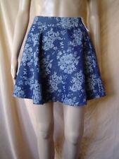 Denim Short/Mini Floral Skirts for Women