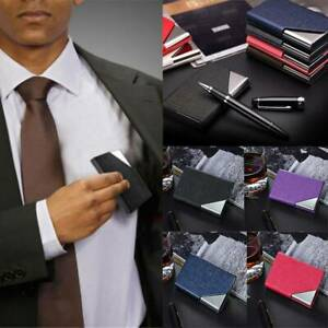 Stainless Business ID Credit Wallet Holder Card Case Name Card Box Waterproof HC