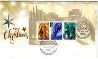 2016 FDC. Australia. Christmas. M.S. Various FDI postmarks