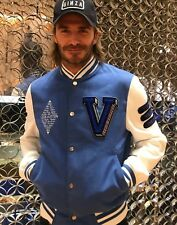NWT FW17 Louis Vuitton Forever 💙 varsity jacket 52 tags & receipt Gucci Balmain