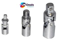"""AM TECH 3 Pc Piece Universal Joint Set 1/4"""",3/8"""",1/2"""" For Sockets I6350"""