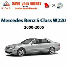 Mercedes Benz S Class W220, 2000-2005 pdf factory service repair manual