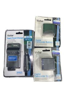Vivitar Rapid Travel Charger QC-612 worldwide 100-240v W/2 batteries Panasonic