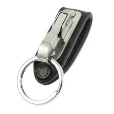 Porte-clé ceinture clip mousqueton + anneau métal robuste et discret simili cuir