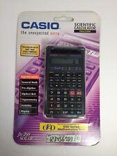 New Sealed Nib Casio fx-260 Solar Scientific Fraction Calculator Black Ged / Sat