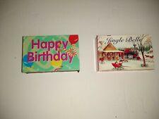 Vtg  Matchbox Music Boxes- Jingle Bells And Happy Birthday