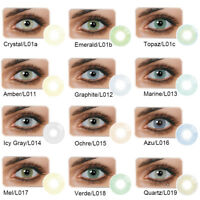 PT_ 1 Pair Unisex Beauty Big Eye Makeup Cosmetic Colour Contact Lenses Moda