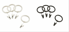 Style Selections 14-Pack 1-in White Curtain Ring Steel Curtain Rings