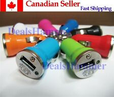 Mini USB Bullet Power Car Charger Adapter for iPod iPhone 4 4S 3G WHITE