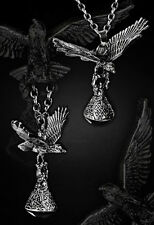 Restyle Halskette Rabe Gothic Necklace Raven Steampunk Maleficent Loki Odin Crow