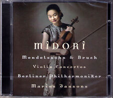 MIDORI: MENDELSSOHN & BRUCH Violin Concerto CD Marris JANSONS Violinkonzert Nr.1