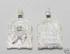 Anhänger mit Ikone Gottesmutter кулон с иконой Богородицы Умиление цвет серебра