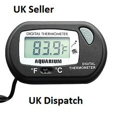 LCD Digital Aquarium Tank Thermometer Fish Tank Vivarium Water Marine Uk Seller