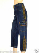 Pantacourt jeans femme Together taille haute avec lacets Taille 36 Neuf+ ec86bee3758b