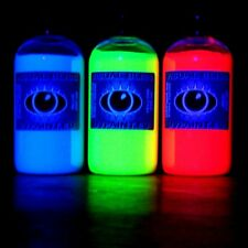 Uv Fluorescent Paint 3x 250ml Artist Quality UltraViolet Blacklight U V Glow Art