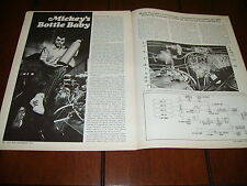 MICKEY THOMPSON COMPRESSED AIR RACE CAR ENGINE ***ORIGINAL 1971 ARTICLE***