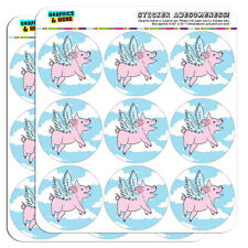 """Flying Pig 2"""" Scrapbooking Crafting Stickers"""