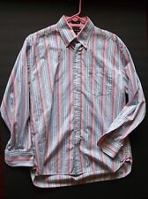 pink stripe casual shirt size M CLEAN tight buttons