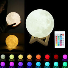 3D Moon Lamp USB LED Night Light Moonlight Touch Sensor 16 Color Changing+Remote