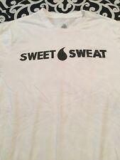 Sweet Sweat T-Shirt - White w/ Black Letters - Size XL