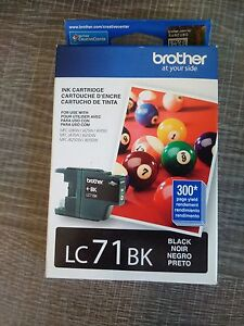 Brother LC71BK Black 300 pages NEW