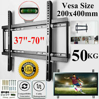 "TV Wall Bracket Mount Fixed For 37 40 42 43 49 50 55 60 65 70"" Inch Plasma LCD"