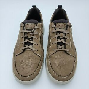 Rockport XCS Truetech Men's Leather Shoe Size 10 Medium Brown Lace Up