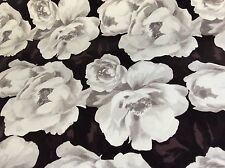 Hule Tela, recubierto de PVC, Diseño Floral Monocromo, Por Metro