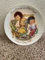 Vintage 1984 Mothers Day Plate Love Comes In All Sizes Mini Collector Plate Avon