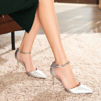 New Women's Chain Stiletto High Heels Slingback Causal Wedding Party Shoes