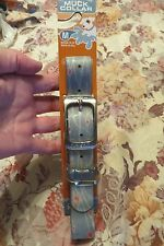 NEW, MUCK DOGGIE COLLAR, SOFT GRAY WT RED & LT  DESIGNS, WATERPROOF & MORE  SZ M