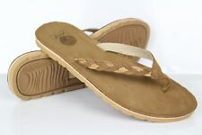 Reef Women's Braided Leather Flip Flop Sandals Size 7 Brown