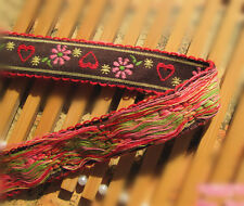 Wholesale bulk  lot  15yds retro style  embroidered  ribbon  diy sewing  2.2cm