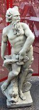 POSEIDON,statue de jardin en pierre reconstituée,fontaine superbe