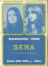 SERA Gigliola Cinquetti Giuliana Valci canto mandolino fisarmonica 1968 April