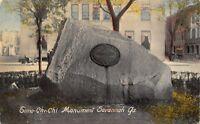 SAVANNAH GEORGIA~TOMOCHICHI NATIVE AMERICAN INDIAN MONUMENT POSTCARD 1910s