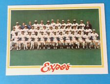 1978 TOPPS # 244 EXPOS TEAM CARD CHECKLIST  NEAR MINT UNMARKED