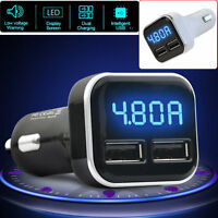 Dual USB Car Charger Adapter Voltage DC5V 4.8A Universal for Smart Mobile Phone