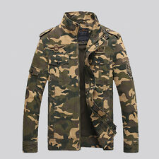 New Fashion Mens Casual Denim Air Force Cotton-padded Camouflage Jackets WJ192