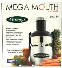 Omega Mega Mouth Juicer 350W Stainless Steel Pulp Ejection Commercial Motor