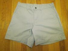 PATAGONIA Mens Size 34 Stand Up Shorts Khaki Organic Cotton Canvas Hiking