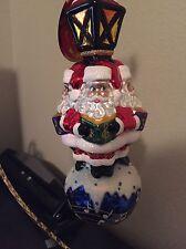 Retired Christopher Radko We Wish You A Merry Christmas Santa Ornament 1017701
