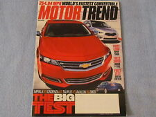 MOTOR TREND; Big Test; Avalon, Cadenza, 300S....; July 2013; Collector's Item!