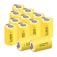GIALLO 12pc NiCd/NiMh 4/5 SubC SUB C 1.2v 2200mAh Ni-CD batteria ricaricabile