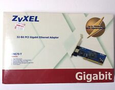 New Zyxel 32 - Bit PCI Gigabit Ethernet Adapter GN670-T Factory Sealed.