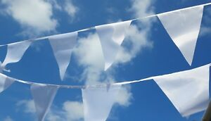Wedding Bunting Wholesale Luxury White Fabric - Various Lengths 1st Class Post