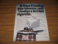 1970 Print Ad Kentucky Club Mixture Pipe Tobacco Makes Terrible Cigarette