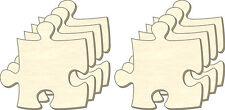 Blanc Puzzle infini, Taille L, Set 8 Pièces, Pièces de Puzzle en bois, Dessiner