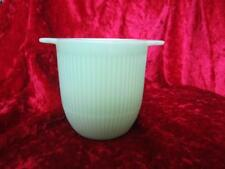 Ribbed Jadeite Green Glass Cup Small Bowl Jane Ray Style Not Marked