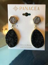 Panacea Black Druzy Drop Earrings